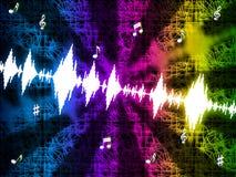Musica di fabbricazione del fondo di Soundwaves e di gioco media Immagine Stock