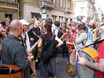 MUSICA DI FASCIA, MILANO, ITALIA Fotografie Stock