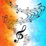 Musica di fondo. Fotografia Stock