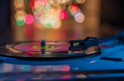 Musica di gioco record dell'annata Fotografia Stock Libera da Diritti