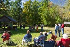 Musica di Mountian su Ridge Parkway blu Immagini Stock Libere da Diritti