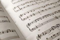 Musica di strato Fotografia Stock