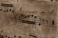 Musica di strato dell'annata fotografia stock