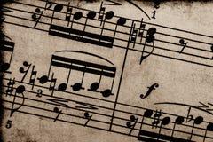Musica di strato dell'annata fotografia stock libera da diritti