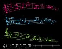 Musica di strato luminosa Immagine Stock Libera da Diritti