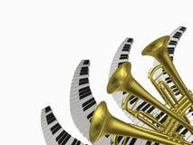 Musica due Fotografia Stock Libera da Diritti