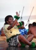 Musica e ballo dal Fiji Fotografie Stock Libere da Diritti