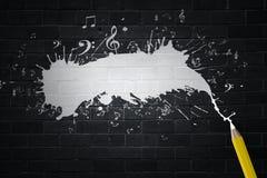 Musica e disegno Immagine Stock