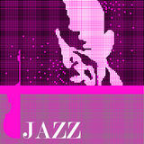Musica e jazz. Fronte. illustrazione vettoriale