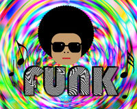 Musica funky Fotografia Stock Libera da Diritti
