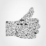 Musica hand3 Fotografie Stock