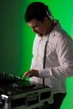 Musica mescolantesi del DJ Fotografia Stock