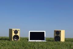 Musica naturale del computer portatile Immagine Stock Libera da Diritti