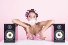 Musica nel rosa Fotografia Stock Libera da Diritti