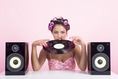 Musica nel rosa Immagini Stock Libere da Diritti