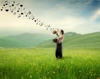 Musica nella natura Immagine Stock