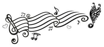 Musica, note di musica, chiave Fotografia Stock Libera da Diritti