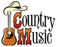 Musica occidentale del paese illustrazione di stock