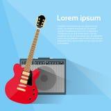 Musica rock combinata dell'amplificatore della chitarra elettrica Fotografia Stock Libera da Diritti