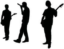 Musica rock: fascia di anni dell'adolescenza Fotografia Stock Libera da Diritti