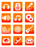 Musica rossa ed icone sane Immagine Stock Libera da Diritti