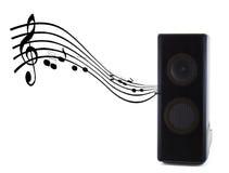 Musica sana dell'altoparlante Fotografia Stock Libera da Diritti