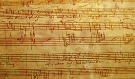 Musica scritta mano Fotografia Stock