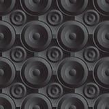 Musica senza fine del nero del quadro televisivo Fotografia Stock