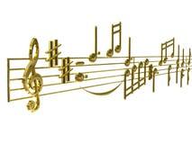 Musica sopportata Fotografie Stock Libere da Diritti