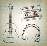 Musica vecchia Fotografia Stock Libera da Diritti
