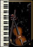 Musical. Background. Violin and piano Royalty Free Stock Photos