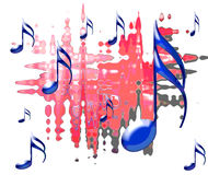 Musical. Note with a background Royalty Free Illustration