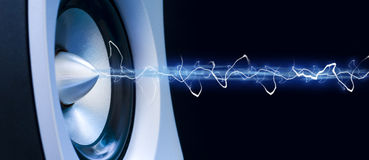 Musical abstract. Abstract showing music from a speaker royalty free stock photo