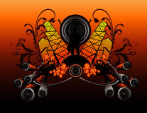 Musical abstract. Composition illustration Royalty Free Stock Image