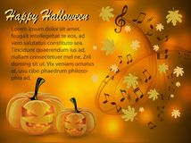 Musical abstract background for Halloween royalty free illustration