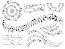 Musical abstract vector design elements - set Royalty Free Stock Photo