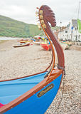Musical ark. A closeup of a boat with built in harp-like musical instrument to play to whales and which took part in the 2013 World Skiff Championships held in Stock Photography