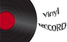 Musical audio is an old vintage retro hipster antique vinyl reco. Rd and an inscription vinyl record on the background of the 50`s, 60`s, 70`s, 80`s, 90`s and Vector Illustration
