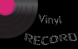 Musical audio is an old vintage retro hipster antique vinyl record and an inscription vinyl record on the background. Of the 50`s, 60`s, 70`s, 80`s, 90`s and Royalty Free Illustration