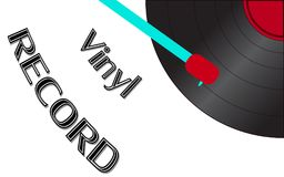 Musical audio is an old vintage retro hipster antique vinyl record and an inscription vinyl record on the background. Of the 50`s, 60`s, 70`s, 80`s, 90`s and Stock Illustration