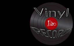 Musical audio is an old vintage retro hipster antique vinyl 50`s, 60`s, 70`s, 80`s, 90`s and copy space. Vector illustration. Musical audio is an old vintage vector illustration