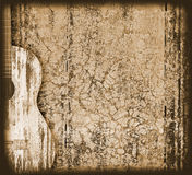 Musical background. Background with an acoustic guitar vector illustration