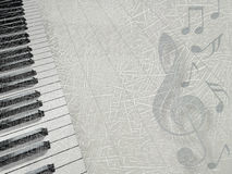 Musical background. Background with an piano keys stock illustration