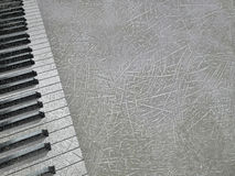 Musical background. Background with an piano keys Stock Images