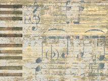 Musical background. Background with an piano keys Royalty Free Stock Image