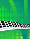 Musical background. Vector illustration of creative green vertical musical background Stock Image