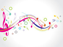 Musical background. Abstract musical background,  illustration Stock Images