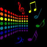 Musical Background stock illustration