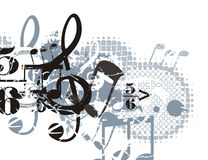 Musical Background. In Grunge Style. Check my portfolio for much more of this series as well as many more similar and other great vector items Stock Photo