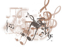 Musical Background. In Grunge Style. Check my portfolio for much more of this series as well as many more similar and other great vector items Royalty Free Stock Images